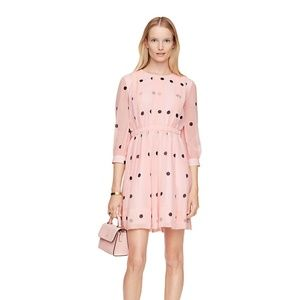 KATE SPADE Pink and black polka dot dress | Size 4